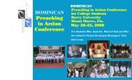 """""""Preaching in Action Conference""""? - Dominican Life 