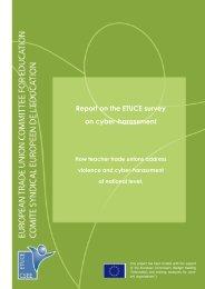 Report on the ETUCE survey on cyber-harassment - Teachers ...