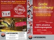 Nur Vom 2. Bis 11. April: Doppelter Bonus - SPORT 2000 Landsberg