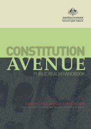 Constitution Avenue public Realm Handbook - the National Capital ...