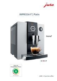 Technische Daten Jura Impressa F7 platin