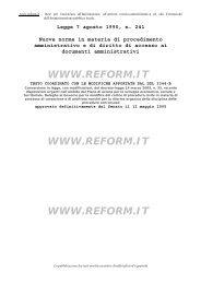 Nuove norme in materia di procedimento amministrativo - FP CGIL ...
