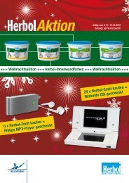 6 x Herbol-Zenit kaufen = Philips MP3-Player geschenkt 24 x Herbol ...