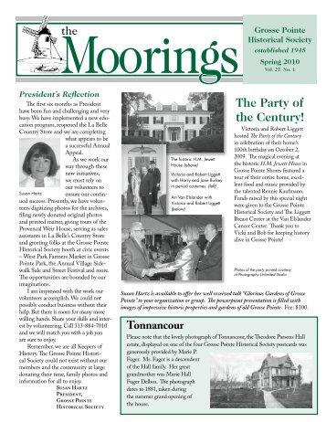 2010 Spring - Volume 27 No.1 - Grosse Pointe Historical Society