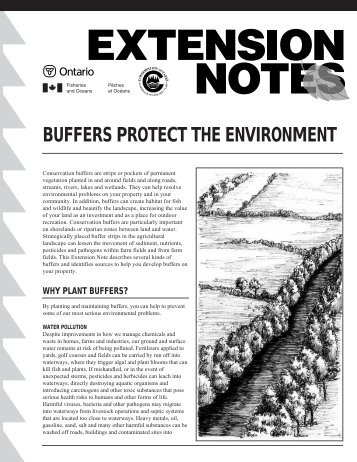 Buffers Protect the Environment - LandOwner Resource Centre