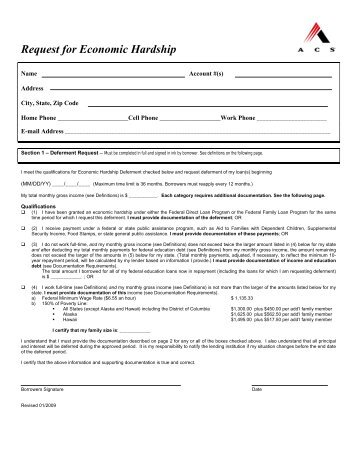 STANDING DEFERRED REQUEST FORM