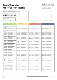 Bestellformular OT-F2/OT-F3 Prothetik - OT medical GmbH