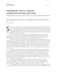 Hearing of tHe U.S. Senate Committee on tHe JUdiCiary - Demos