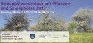 und Samenbörse 2013 - Rhein Voreifel Touristik