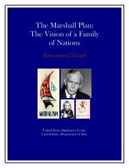 The Marshall Plan - U.S. Diplomacy Center - US Department of State