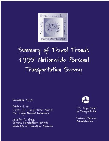 my body - National Household Travel Survey - Oak Ridge National ...