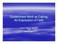 Government Work as Calling, An Expression of Faith - Christian ...