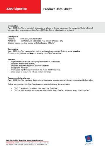 Product Data Sheet - Spandex