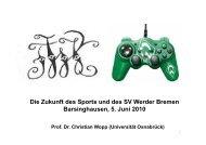 Die Zukunft des Sports und des SV Werder - Sport ...