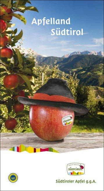 Broschüre Apfelland Südtirol - Südtiroler Apfel
