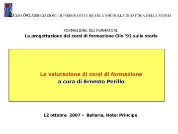 valutazione dei corsi di formazione - Clio 92