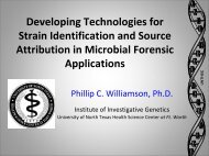 Developing Technologies for Strain Identification and ... - SWACM