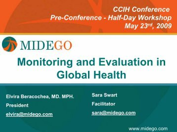 Title Page Monitoring and Evaluation in Global Health