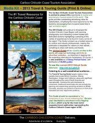 Media Kit - Cariboo Chilcotin Coast Tourism Association