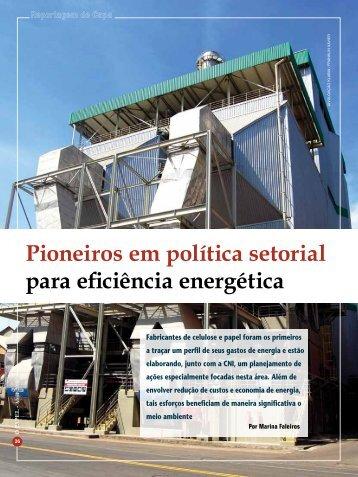 Pioneiros em política setorial para eficiência ... - Revista O Papel