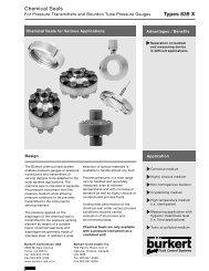 Types 839 X Chemical Seals - WJF Instrumentation