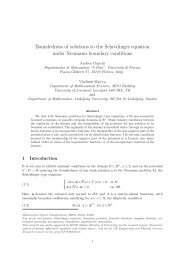 Boundedness of solutions to the Schrödinger equation under ...