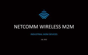 netcomm wireless m2m - Remote Site and Equipment Management ...