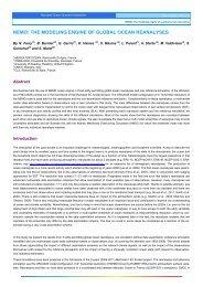 nemo: the modeling engine of global ocean ... - Mercator Océan