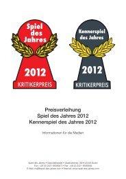 Pressemappe 2012 - Spiel des Jahres