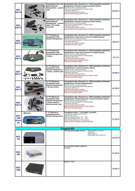 Audi BMW Chevrolet Chrysler Citroen Ford Gyári helyre szerelhető ...