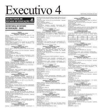 SEXTA-FEIRA, 30 DE ABRIL DE 2010 - Imprensa Oficial do Estado ...