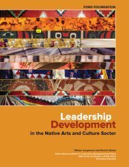 Leadership Development in the Native Arts and ... - Ford Foundation