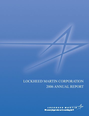 lockheed martin corporation essay Essay lockheed martin stakeholder analysis 1340 words  (lockheed martin  corporate charter)  essay about martin brass case analysis.