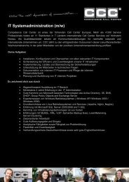 Job description - Competence Call Center