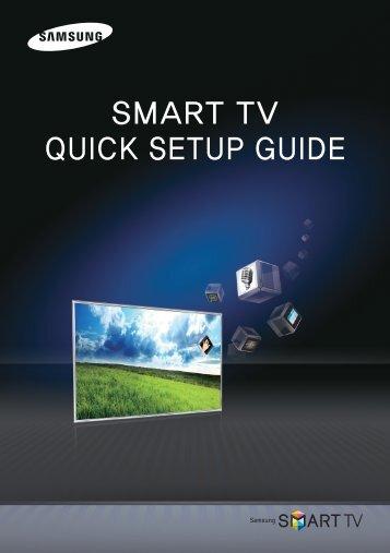 SMART TV QUICK SETUP GUIDE
