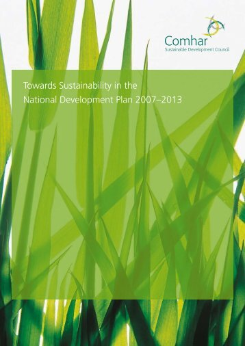 Towards Sustainability in the National Development Plan 2007–2013
