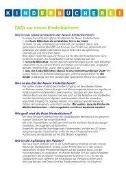 FAQs zur neuen Kinderbücherei - Stadtbibliothek Stuttgart