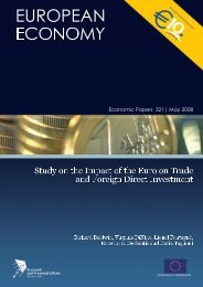 study on the impact of the euro on trade and foreign direct investment