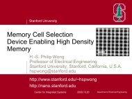 H-S. Philip Wong, Stanford Univ. - USA