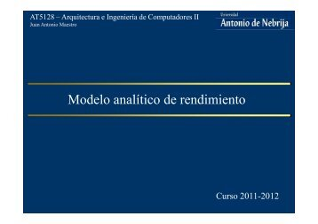 Modelo analítico de rendimiento