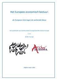 Het Europees economisch bestuur: de Europese ... - Ander Europa