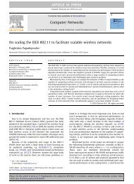 On scaling the IEEE 802.11 to facilitate scalable wireless networks