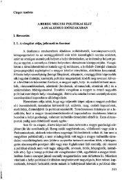 A Bereg megyei politikai elit a dualizmus időszakában - Magyar ...