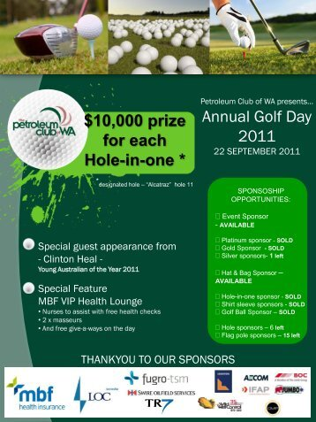 Petroleum Club Annual Golf Day - Petroleum Club Of WA