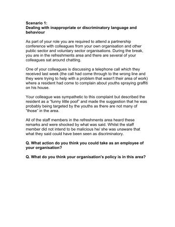 Equality and Diversity Interactive Scenarios - Leicestershire Together