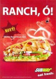 Page 1 RANCH, Ó! Chicken Bacon Ranch Melt Í Page 2 Ponuka ...