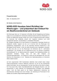 NORD-SÜD Hausbau feiert Richtfest der RheinLogen – und ...