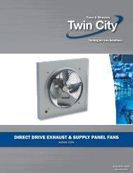 DIrecT DrIve exhAuST & Supply pAnel fAnS - Twin City Fan & Blower