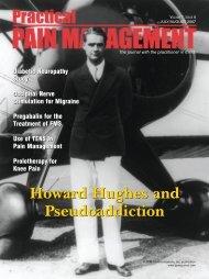 Howard Hughes and Pseudoaddiction Howard Hughes and