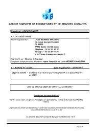 MAPA N°15-2011 : systèmes de production pour l'ITEC